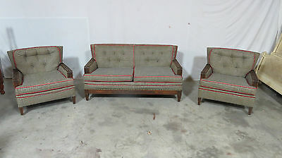 Romweber 3 Pc Loveseat Club Chairs Set Grapes Vintage