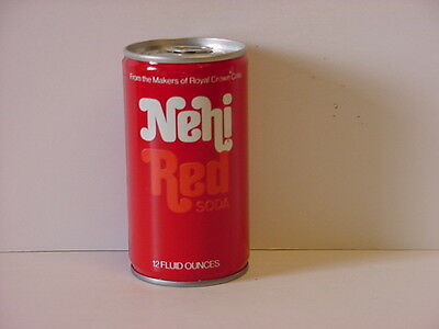 Vintage Nehi Red Soda Crimped Steel Pull Tab Bottom Opened Pop Can