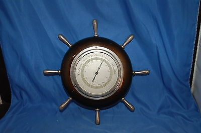 Antique Dutch Barometer Wooden Wheel with  Steel Spokes 10""