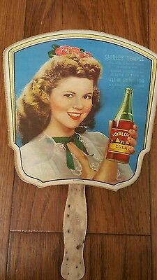 Fan  Rc Cola Shirley Temple Old Time Hand Fan
