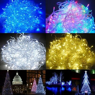 10m 100m led lichterkette weihnachtsbeleuchtung lichter kette au en innen garten eur 5 49. Black Bedroom Furniture Sets. Home Design Ideas