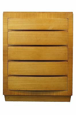 """RWAY Mid Century Modern 36"""" Bow Front Five Drawer Chest"""