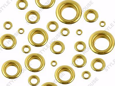 2-3-4-5-6-8mm 100pcs GOLD FINISH EYELETS SEWING LEATHER CRAFT SCRAPBOOKING