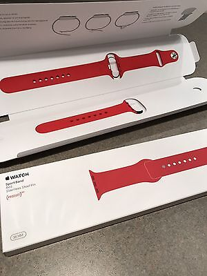 Apple Watch Strap 38mm (PRODUCT)RED Sport Band - S/M & M/L RARE HARD TO FIND