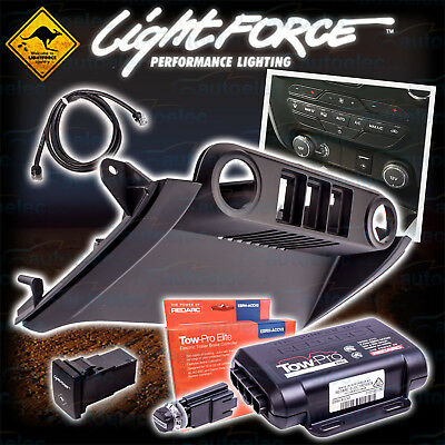 Lightforce Ford Ranger Px2 2015 Fascia Panel Kit Light Switch + Cable + Tow Pro