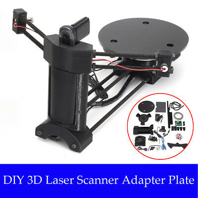 Black DIY Open Source 3D Laser Scanner w/Adapter Object Plate For Ciclop Printer