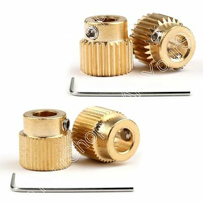 26/40 Teeth Extruder Drive Gear 5mm Bore Copper 1.75mm Filament For 3D Printer