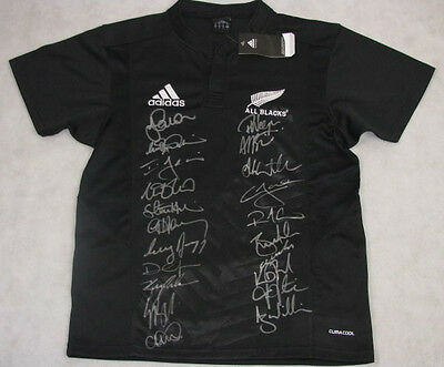 2009 New Zealand Hand Signed All Blacks Jersey  + Photo Proof
