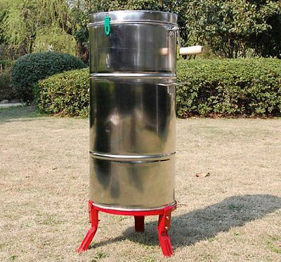 Homcom Honey Extractor 4 frame Stainless Steel Manual for Beekeeping With Cover