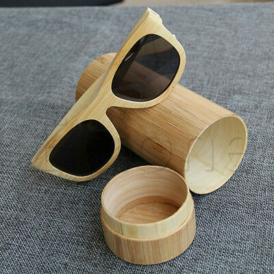 Handmade Women Men Natural Bamboo Wooden Wood Sunglasses Box Frame Glasses Case