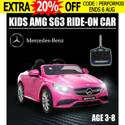 Kid Electric Licensed Mercedes-Benz AMG S63 Child Ride On Car Toy Battery Kids