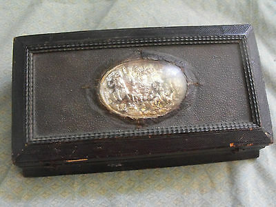 Antique Silver German or French Writing Box / Set with Inkwells