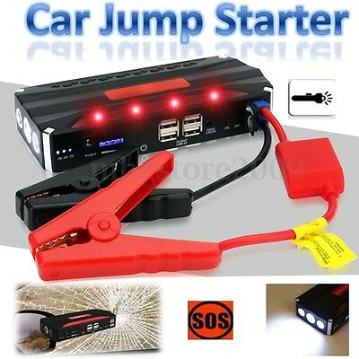 80000mAh Car Jump Starter 4 USB Emergency Charger Booster Power Bank Battery EU