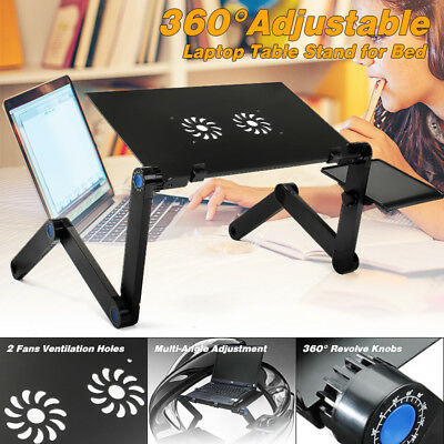 360° Adjustable Desk Folding Portable Laptop Computer Notebook Table Bed Sofa