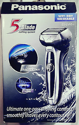 Panasonic Wet/dry 5 Blade Rechargeable Shaver - Es-Lv65-S - Rrp $499 - Sealed
