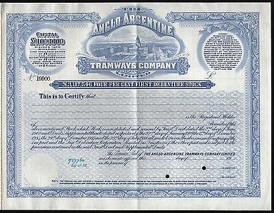 19__ The Anglo-Argentine Tramways Company (Specimen)