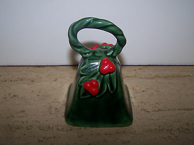 Vintage Lefton Japan Green Holly Berry Bell