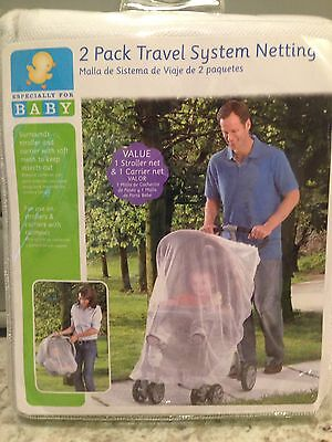 Insect Netting 2-pack Travel System (for Stroller and Car Seat) NEW Sealed