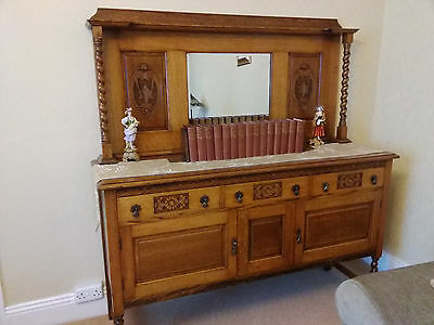 Antique Sideboard / Buffet. Yellow Oak, Arts and Crafts