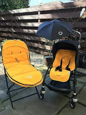 Bugaboo Bee - Limited Edition Black Pushchair Single Seat Stroller