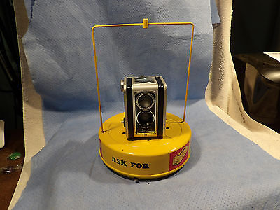 Vintage Kodak Rotating Carousal Store Camera Display Turntable Battery Powered