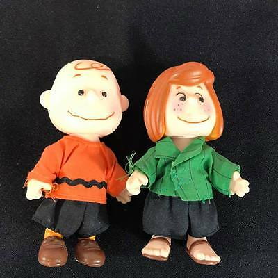 "1950s Peanuts Charlie Brown, Peppermint Patty 4"" Doll United Feature Syndicate"