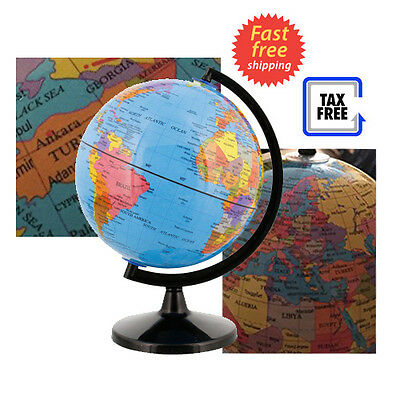 World globe decor map earth ocean desktop geographical blue 6 w desktop world globe decor map earth geographical decorative with black base new gumiabroncs Choice Image