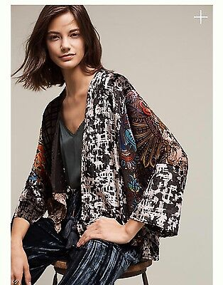 NWT Anthropologie Velvet Muse Kimono absolutely gorgeous- One Size