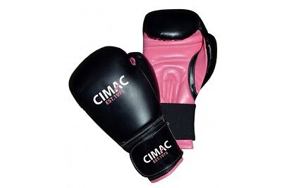 T-Sport Ladies Pink Boxing Gloves Womens Boxercise 6oz 10oz Fitness Girls Kids