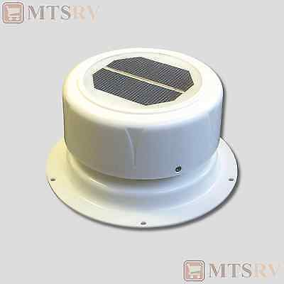 Ultra-Fab Mini Solar Vent Fan - Attic/Plumbing - WHITE - Trailer Cargo RV - NEW