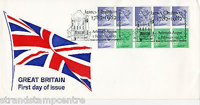 1982 £1.43 Booklet - 'Union Flag' Cover - James Chalmers, Arbroath H/S