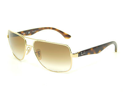 New Ray Ban RB3483 001/51 Gold/Light Brown Gradient 60mm Sunglasses