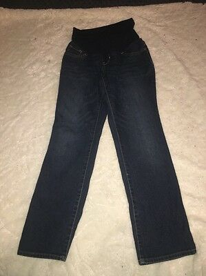 Size Petite Small Indigo Blue Denim Maternity Jeans Very Good Condition