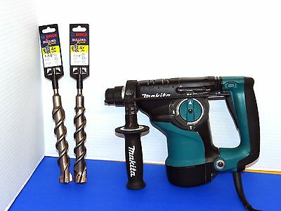 Makita Rotary Hammer Drill HR2811F w/(2) SDS Plus Bits HCFC2283- Great Condition