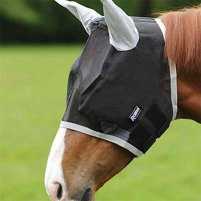 Roma Buzz Away Fly Mask With Ears White In Colour Cob Size