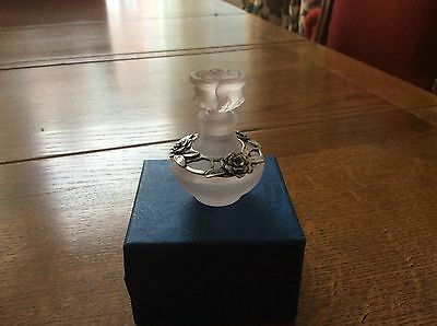 Perfume Bottle - Silver Plated Perfume Bottle Mint Conditio