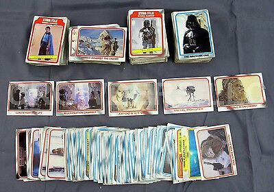 Topps Star Wars Empire Strikes Back Trading Cards Incomplete w/ Duplicates Large