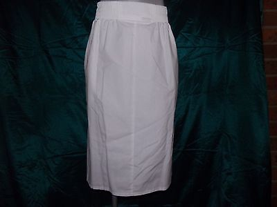 Cherokee Women's Nurse Scrub Skirt Uniform Size 16-18 White Polyester Cotton NWT