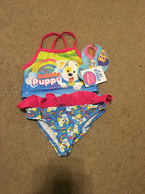 Nwts Toddler Girls Nickelodeon Bubble Guppies 2 Piece Set Swim Suit Size 18 M