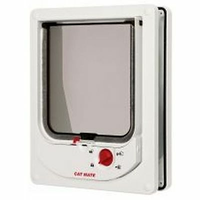 Pet Mate Electromagnetic Cat Flap White sgl 254W