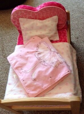 Dolls Bed  With Build A Bear Mattress And Cover