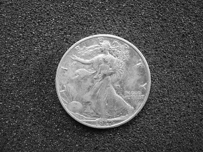 1937-S Walking Liberty Half Dollar, Proof-Like Surface, Circulated Condition