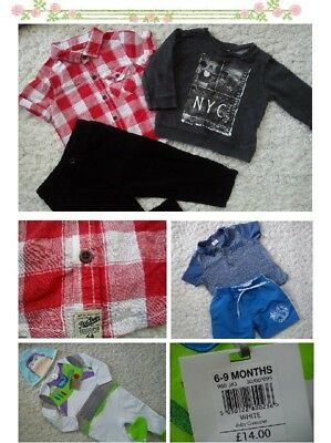 44x NEW USED BUNDLE OUTFITS ADIDAS NEXT BOY 6/9 MTHS PHOTOS IN DESCRIPTION