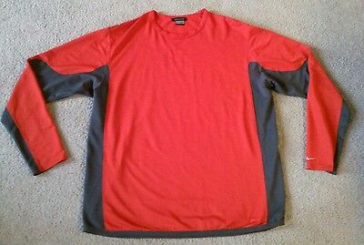 Nike Sphere Men's Long Sleeve Red & Gray Athletic Shirt - Size 3XL