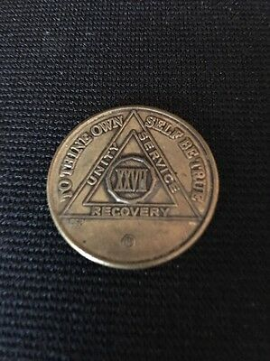 27 Year XXVII Recovery Token AA NA Medallion Chip Coin Sobriety
