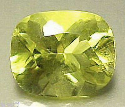 SUPERB COLOR! 9×11mm CUSHION CUT LEMON QUARTZ #R394