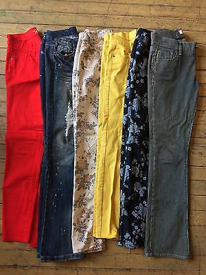Lot Of 6 Junior Pants Old Navy, Delias, Almost Famous, American Eagle Sizes 1-5