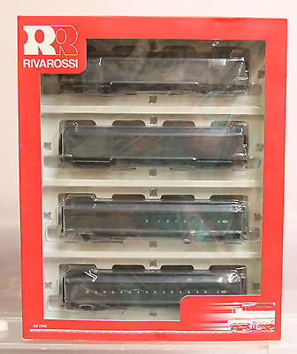 Rivarossi Ho # Rt600229 Santa Fe 60' Heavyweight Pass. Car Set - 4 Cars - Rtr
