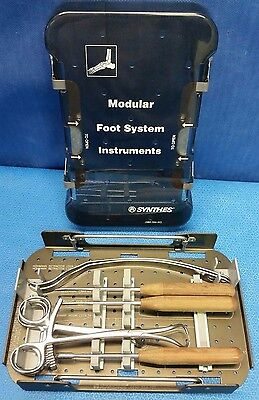 Synthes 690.354.70 Modular Foot System Instruments w/ Case, Surgical, Orthopedic