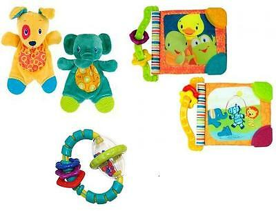 Bright Starts Baby Rattle / Teething Book / Snuggle Cuddly Toy Set